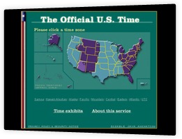 In the United States, www.time.gov provides the official U.S. time across all time zones. The team at IDEA, in collaboration with atomic clock researchers at the National Institute for Standards and Technology (NIST) and the U.S. Naval Observatory (UNSO), created an elegant and easy to use interface.